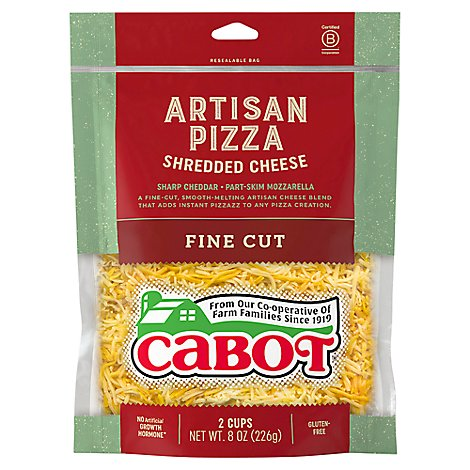 Cabot Rustic Pizza Cheddar Shreds - 8 OZ