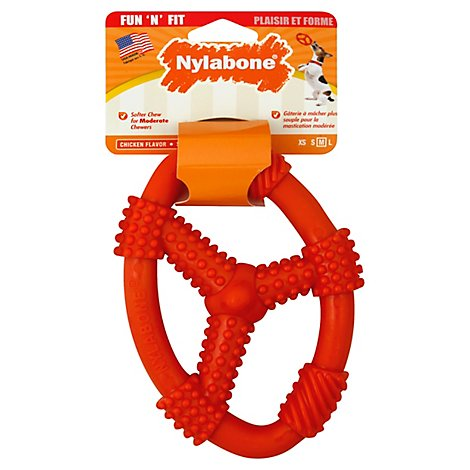 Fun N Fit Medium Oval Ring Flex Dog Toy - EA