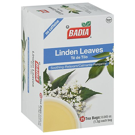 Badia Tea Bags Linden Leaves - 25 Count