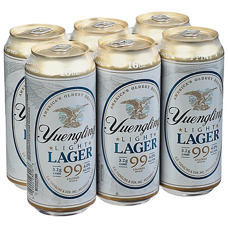 Yuengling Light Lager Beer 4 Count Cans - 6-16 FZ