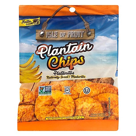 Isle Of Fruit Chips Plantain Sweet - 2.5 Oz