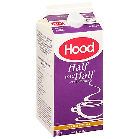 Hood Ultra Pasteurized Half And Half - 64 FZ