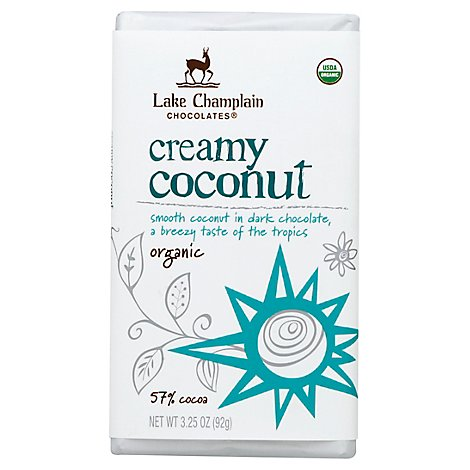 Lake Champlain Organic Creamy Coconut Dark Chocolate - 3.25 OZ