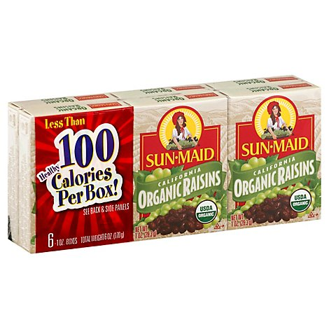 Sunmaid Organic 6-pack - 6 OZ