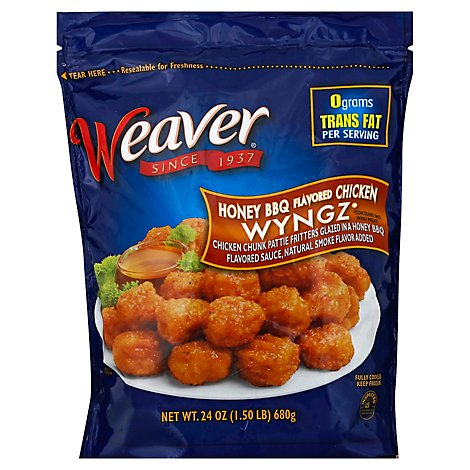 Weaver Wyngs Boneless Bbq Honey - 24 OZ