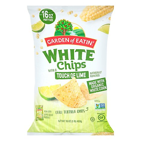 Garden Of Eatin Chips White With A Touch Of Lime - 16 Oz