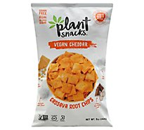 Plant Snacks Chips Casava Root Vegan Cheddar - 5 Oz