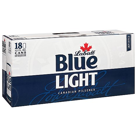 Labatt Blue Light Pilsner In Cans - 18-12 FZ
