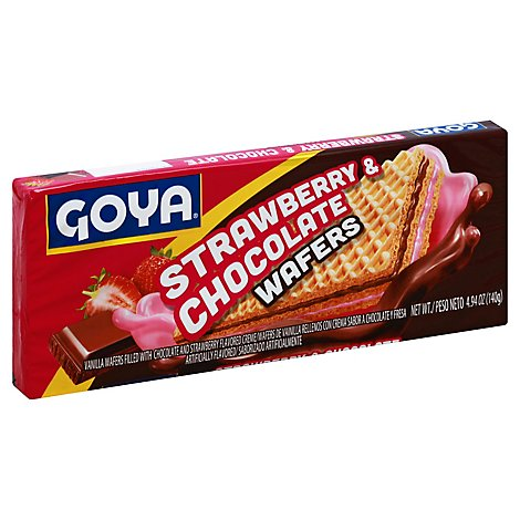 Goya Wafer Strawberry Chocolate - 4.9 OZ