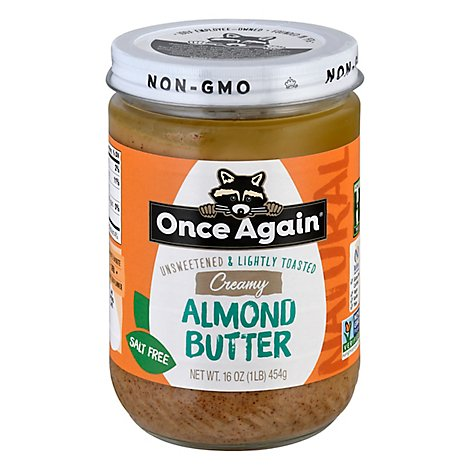 Once Again Nut Bttr Almnd Lg - 16 OZ