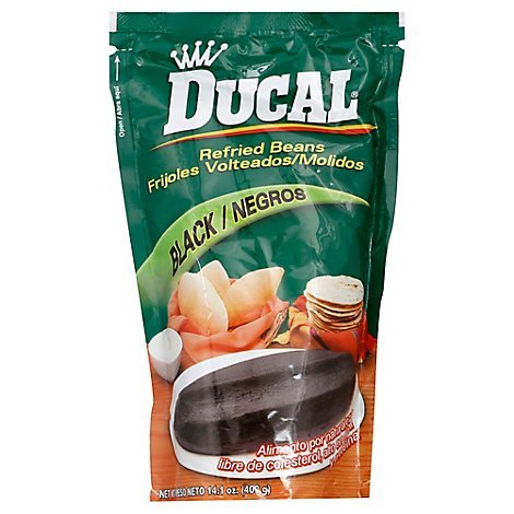 Ducal Beans Refried Black - 14.1 OZ