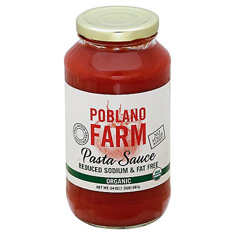 Poblano Farm Pasta Sauce Organic Low Sodium Fat Free - 24 Oz
