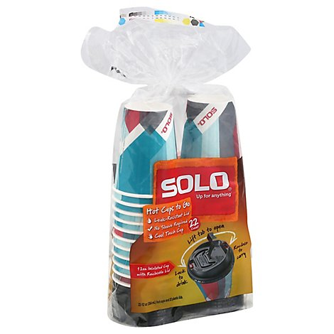 Solo Duo Shield Cup Lid Prism Combo 22 Ct - 12 OZ