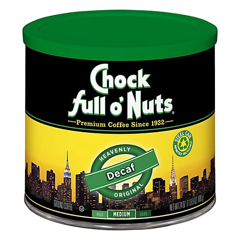 Chock Full Onuts Decaf Coffee - 24 OZ