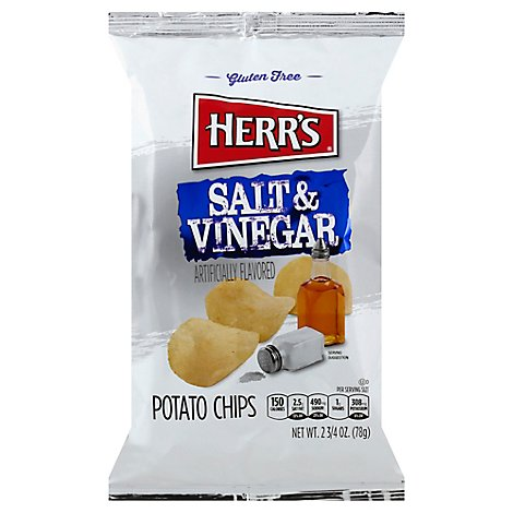 Herrs Salt & Vinegar Potato Chips - 2.75 OZ