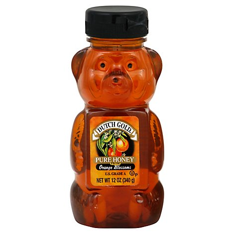 Dutch Gold Honey Bear Orange - 12 OZ