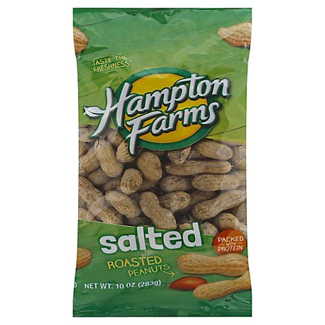 Hampton Farms Peanuts Salted In Shell - 10 OZ