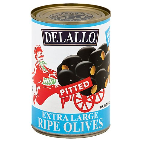 Delallo Olives X Large Pitted - 6 OZ