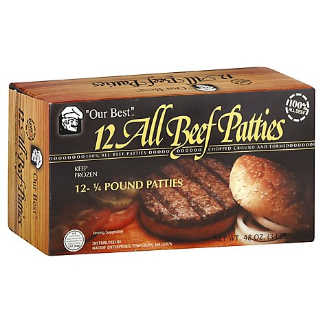 Our Best 12 All Beef E315Burgers - 48 Oz.
