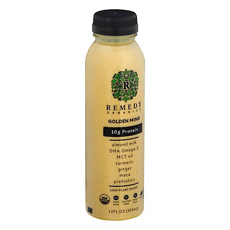 Remedy Organics Golden Mind Protein Drink - 12 Fl. Oz.