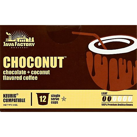 Java Factory Coffee Choconut - 12 CT