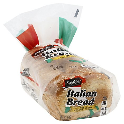 Signature Select Bread Italian With Sesame Seeds - 16 OZ