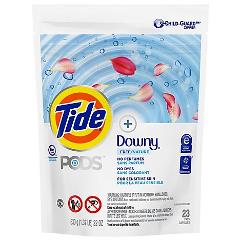 Tide Free Plus Downy Laundry Detergent Pods - 23 CT