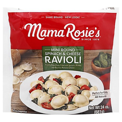 Mama Rosies Spinach And Cheese Ravioli - 24 OZ
