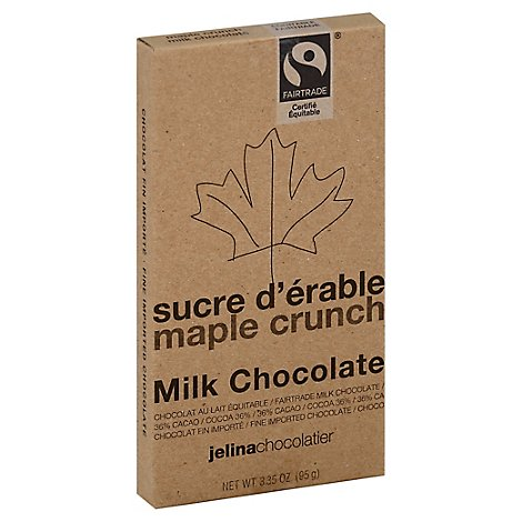 Jelina Milk Chocolate Bar Maple Crunch - 3.35 OZ