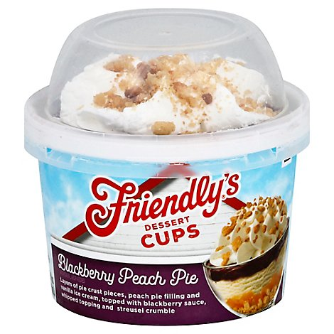 Friendlys Blackberry Peach Pie Ice Cream - 8 FZ