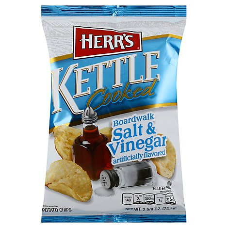 Herrs Salt & Vinegar Potato Chips - 2.625 OZ