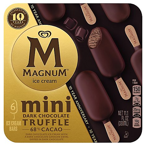 Magnum Ice Cream Mini Dark Chocolate Truffle - 6 CT