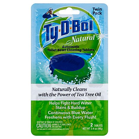 Ty D Bol Ntrl Automatic Toilet Bowl Cleaning Tablets 2pk - 2-1.7 OZ