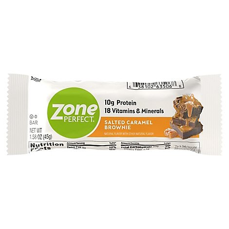 Zone Perfect Bar Brownie Caramel Salted - 1.58 OZ