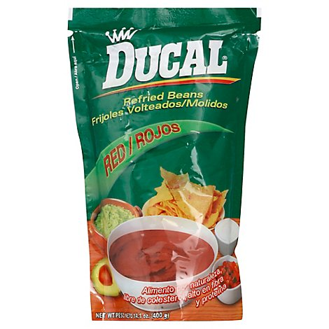 Ducal Beans Refried Red - 14.1 OZ