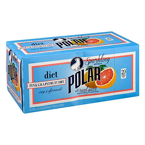 Polar Diet Pink Grapefruit Dry - 8-12 FZ