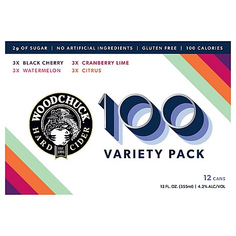 Woodchuck Hard Cider 100 Variety Pack In Cans - 12-12 FZ