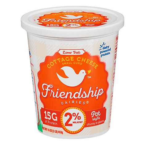Friendship Low Fat Cottage Cheese - 16 OZ