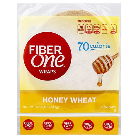 Fiber One Honey Wheat Wrap - 12.5 OZ