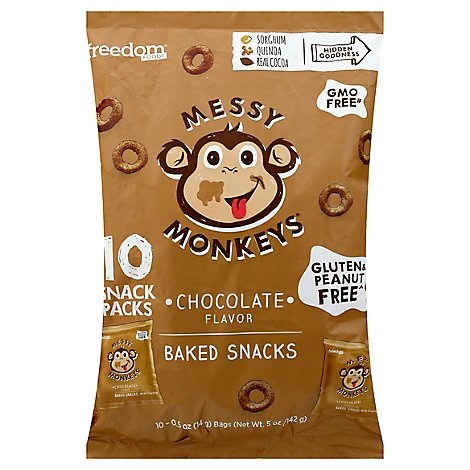 Messy Monkeys Snacks Chocolate Flavor Multipack - 5 Oz