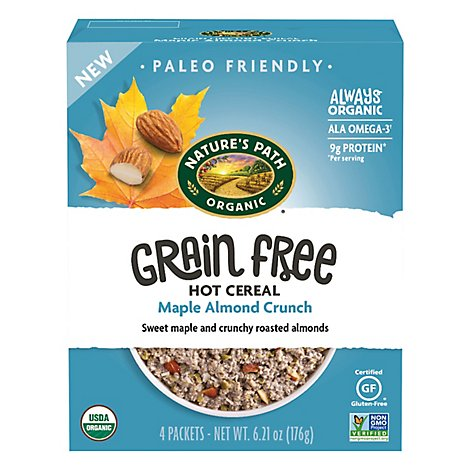 Natures Path Organic Cereal Hot Maple Almond - 6.21 Oz