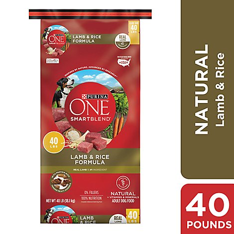 Purina One Smartblend True Instinct Lamb & Rice Dog Food - 40 LB