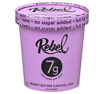 Rebel Ice Cream Peanut Butter Crml Chip - 1 PT