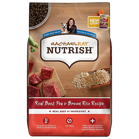 Rachael Ray Nutrish Beef & Brown Rice Dog Food - 40 LB