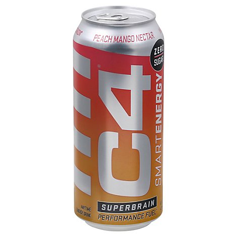 C4 Smart Energy Crb Peach Mango Nectar - 16 OZ