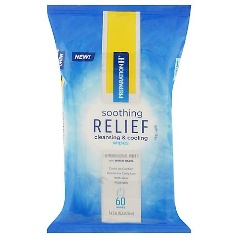 Preparation H Soothing Relief Wipes - 60 CT