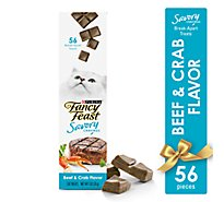 Fancy Feast Savory Cravings Beef & Crab Cat Treats - 1 OZ