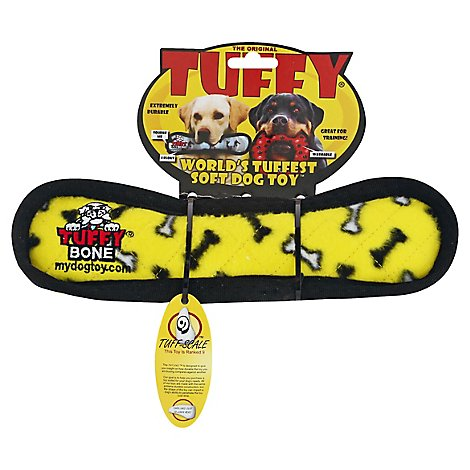 Tuffy Yellow Medium Dog Bone - EA