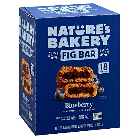 Natures Bakery Fig Bar Blueberry Twin Packs - 18-2 Oz