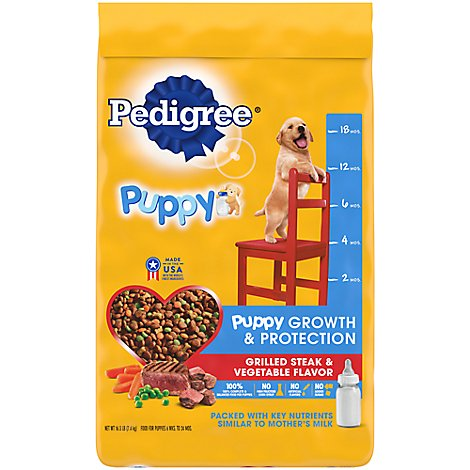 Pedigree Puppy Food Grilled Steak & Vegetable Flavor - 16.3 Lb